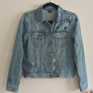 TINSELTOWN Stars Distressed Denim Jacket